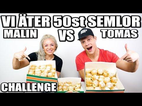 VI ÄTER 50st SEMLOR, CHALLENGE *TOMAS VS MALIN*
