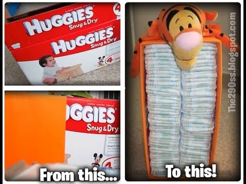 How To Make Recycled Diaper Box Youtube