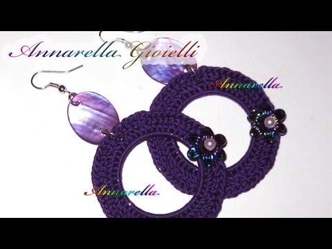 Tutorial Orecchini Uncinetto Cerchio Vuoto Crochet Earrings