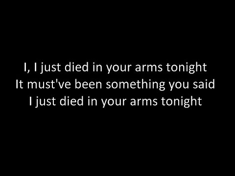 Hidden Citizens - I Just Died In Your Arms Tonight (Lyrics)