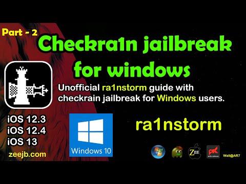 Checkra1n Jailbreak for Windows users. (Rainstorm)  Windows Part 2