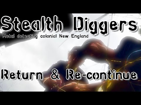 #149 Return & Re Continue - metal detecting Colonial sites NH coins relics ATGOLD XP Deus