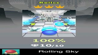 Rolling Sky Level 20 - Relics - Completed All Diamonds And Crowns