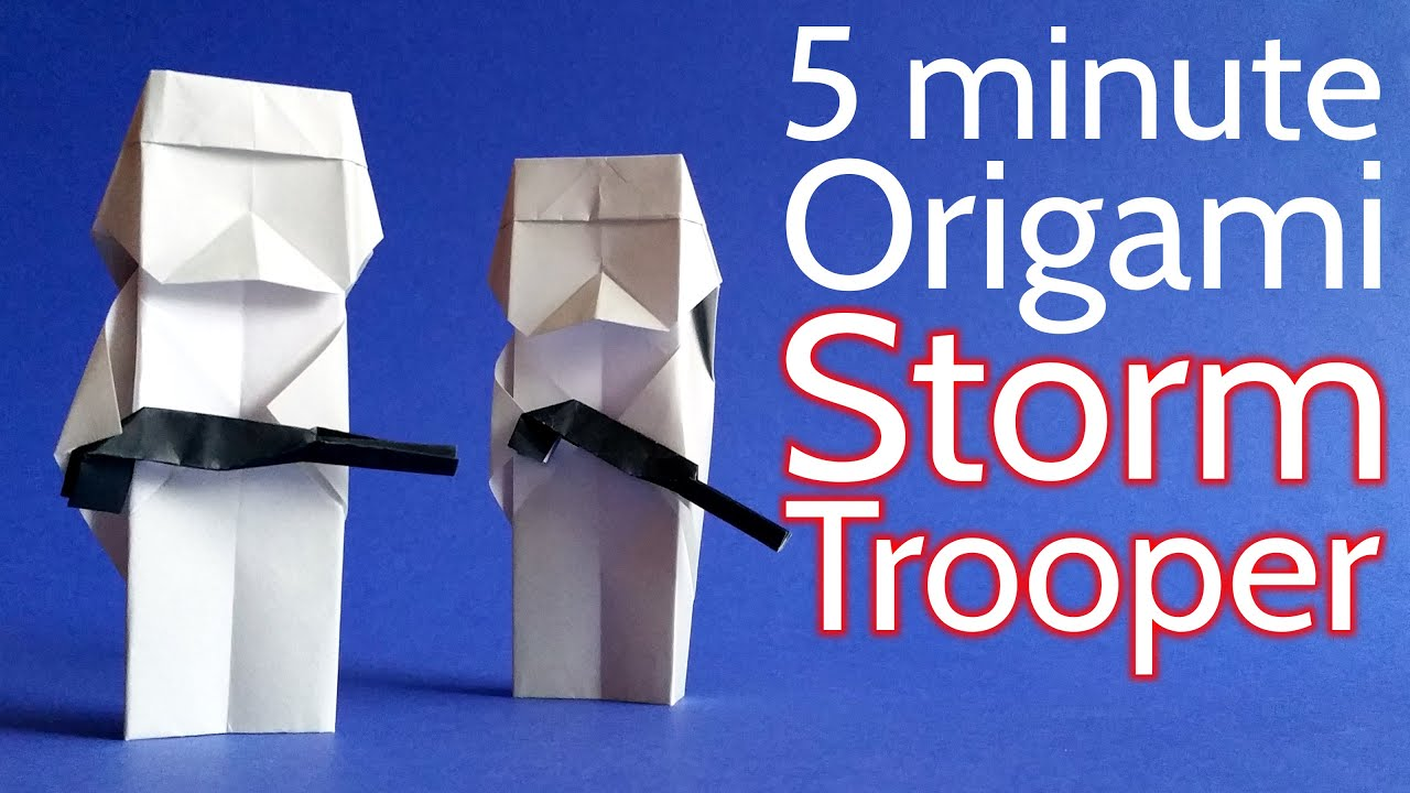 How To Make Origami Star Wars Finger Puppets Easy Star Wars ... | 720x1280