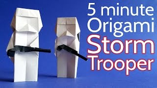 How to Make an Origami Stormtrooper from Star Wars in 5 minutes - Tutorial (Stéphane Gigandet)