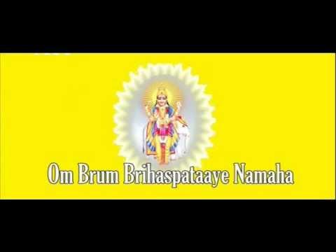 Jupiter/Brihaspati mantra - Om Brim Brihaspataaye Namaha - 108x
