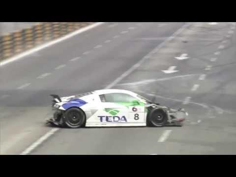 Alex Yoong massive crash at Audi R8 LMS Cup qualifying in Macau