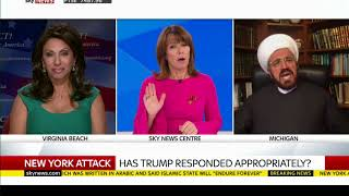 Brigitte Gabriel debating an Imam about the NYC attack