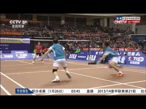 【2013~2014China badminton league】XD Qingdao VS Ba yi