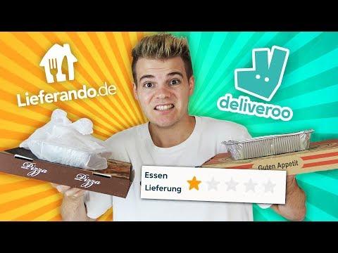 Ich teste das SCHLECHTESTE Essen von LIEFERANDO vs DELIVEROO!