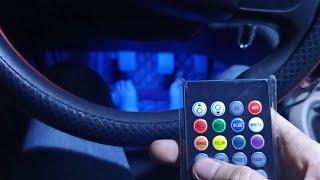 giới thiệu bộ đèn gầm ghế 7 màu nháy tự động