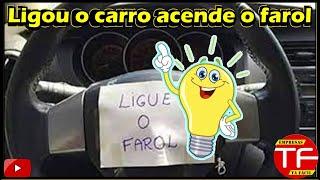 Evite multas , esquema elétrico de ligação do farol baixo ao ligar o carro.