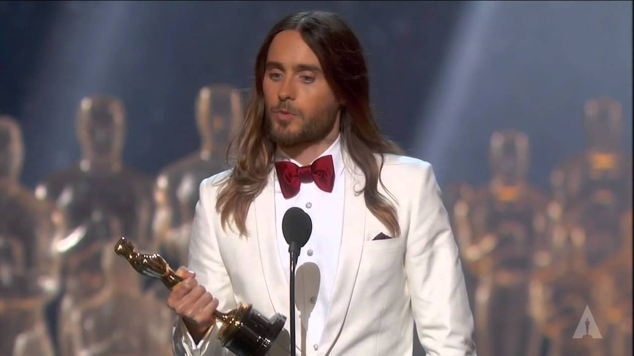 Jared Leto winning Best Supporting Actor