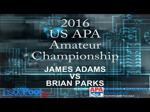 2016 U S  APA Amateur Championship James Adams vs Brian Park