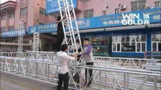 Screw Truss Installation-WinGold&Chuangcai Tents