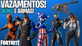 NEW WEAPON DRUM GUN, SKINS, GLIDERS, PICKS, ETC LEAKED! -Fortnite, the