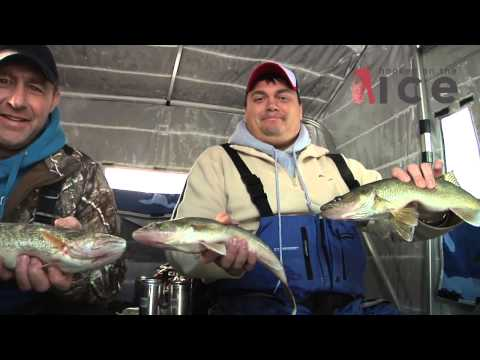 Upper Red Lake Walleyes- Hooked On The Ice