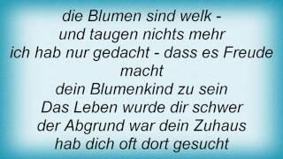 Rosenstolz - Blumenkind Lyrics