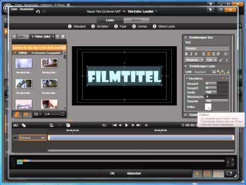 Avid Studio Titeltext mit Videohintergrund