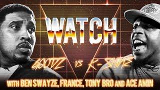 WATCH: GOODZ vs K SHINE with ACE AMIN, TONY BRO, FRANCE and BEN SWAYZE