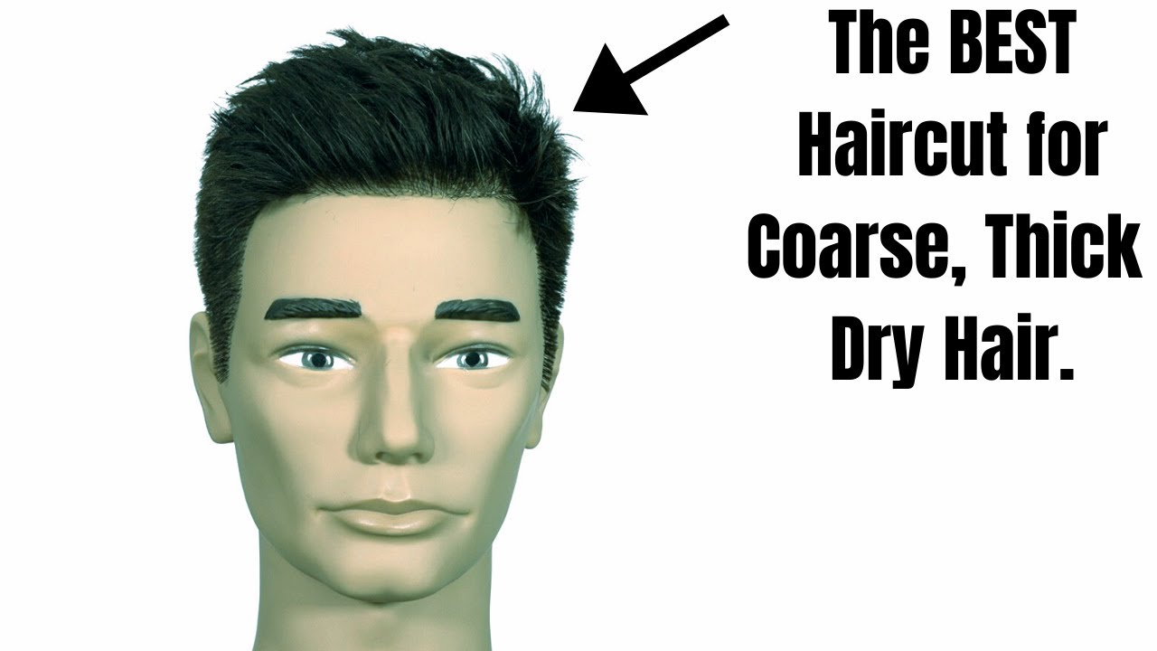 The Best Haircut For Coarse Dry Thick Hair Thesalonguy Youtube