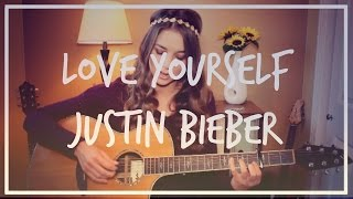 Love Yourself - Justin Bieber Guitar Tutorial // Easy