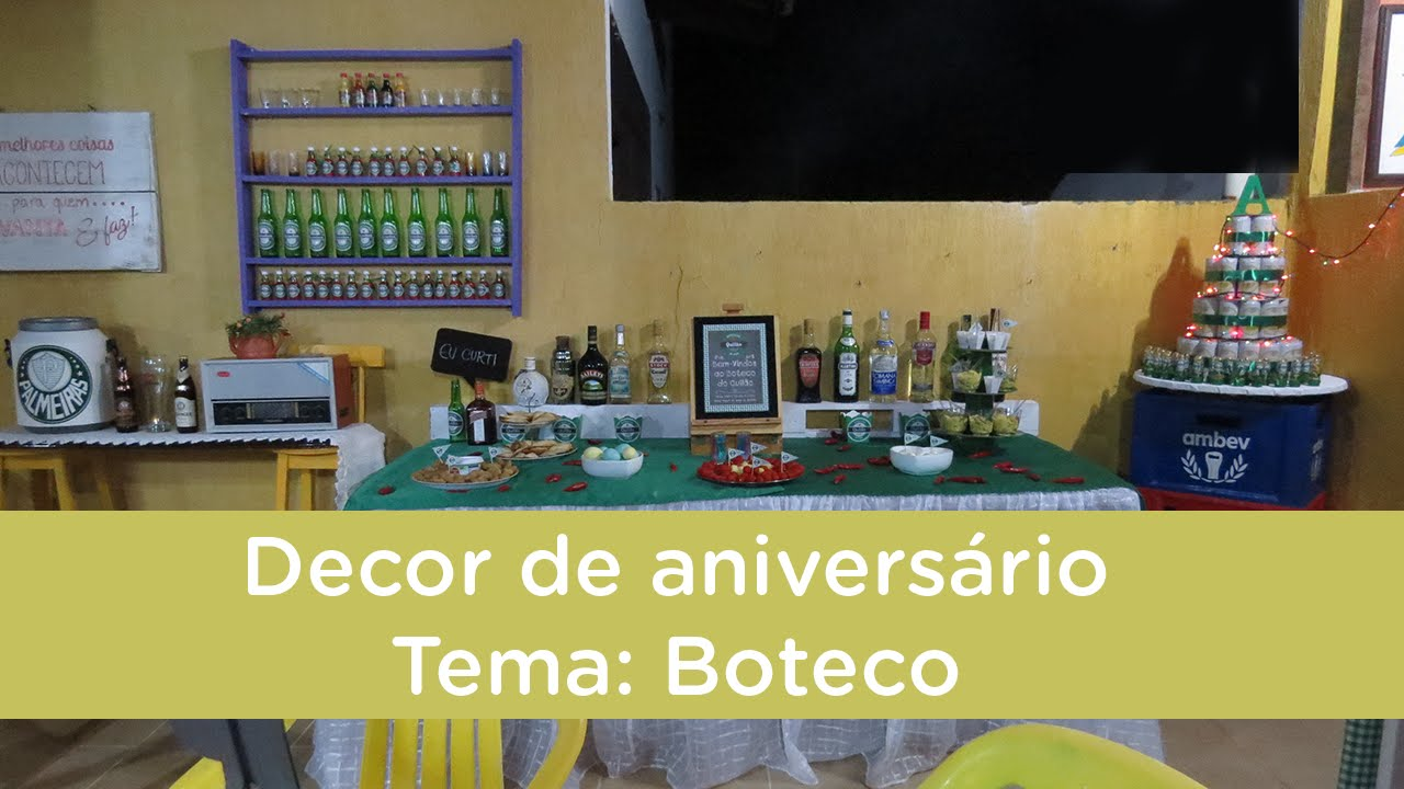 decoracao niver boteco:Niver do Quilão Tema Boteco – YouTube
