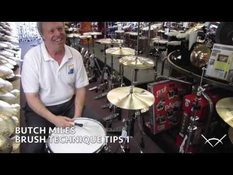 Butch Miles: Brush Technique Tips 1