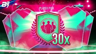 30 80+ PLAYER PICK UPGRADE PACKS! | FIFA 19 ULTIMATE TEAM FUT BIRTHDAY PACK OPENING!