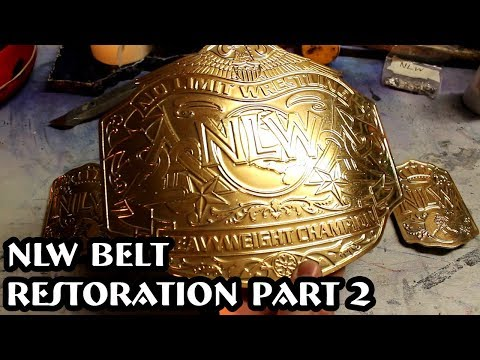 Part 2: Gold Plating The Plates - No Limit Wrestling Belt Restoration