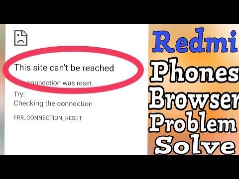Redmi    This Site Can't Be Reached Problem