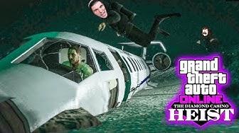 Wir TAUCHEN zu einem abgestürztem FLUGZEUG (Pilot lebt noch) | GTA 5 Online Casino Heists