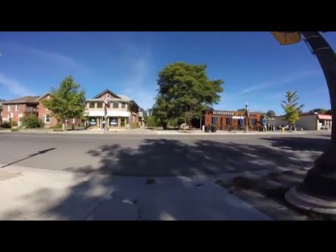 Cycling in East City - Peterborough,Ontario,Canada