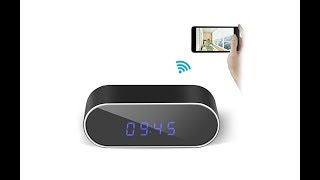 Gogloo HD 1080P WiFi Hidden Clock Camera With Phone/PC Remote