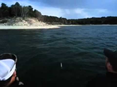 Lake texoma striper top water action youtube for Texoma fishing license