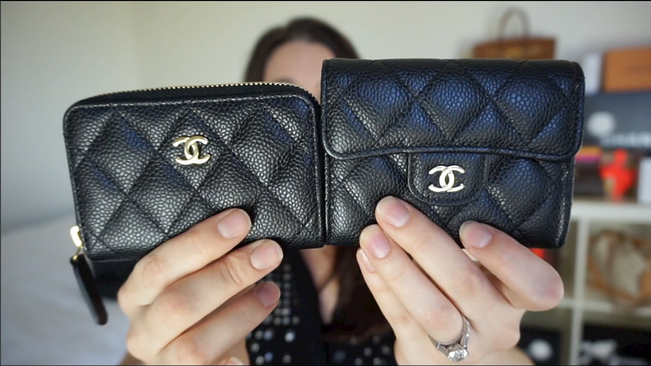 chanel zip coin purse. chanel zip coin purse
