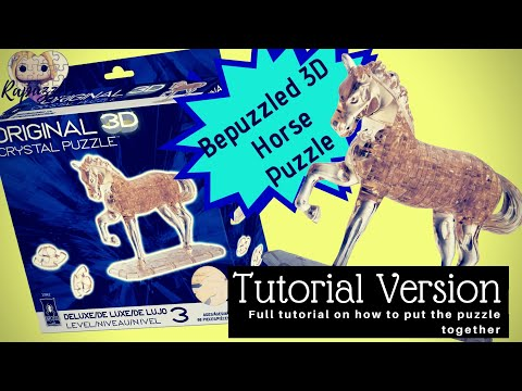 Bepuzzled 3D Crystal Puzzle- Horse- Tutorial Version