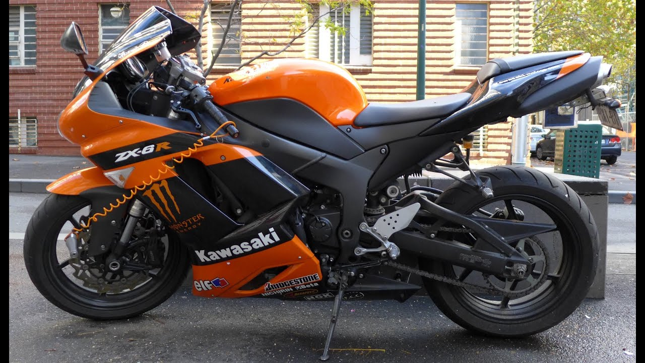 Kawasaki Ninja ZX 6R 2005 Orange Colour