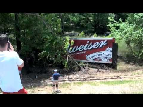 Budweiser Truck takes a dump into Lake Lanier