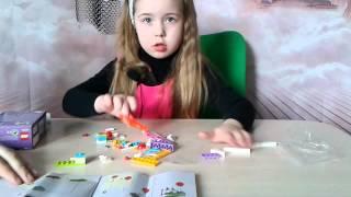 Малинка собирает Лего Френдс