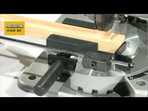 proxxon cut offmitre saw kgs 80 youtube. Black Bedroom Furniture Sets. Home Design Ideas