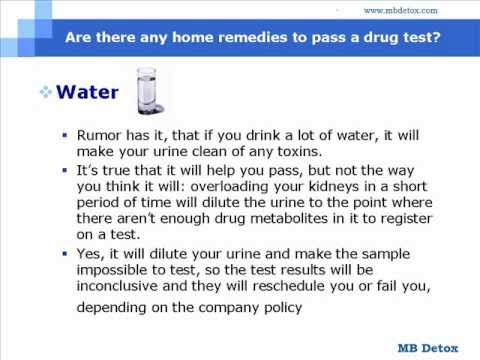 Are There Any Home Remedies To Pass A Drug Test Youtube