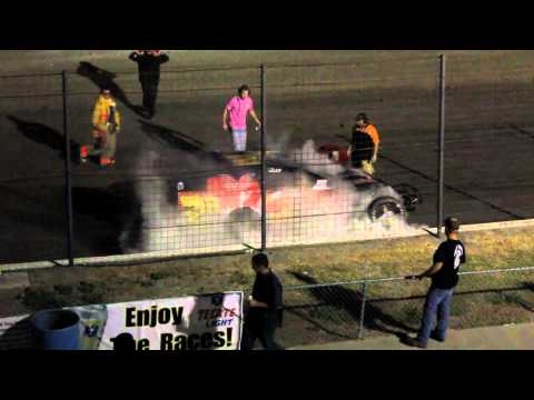 Limited Modified Race Car Catches Fire at South Texas Speedway