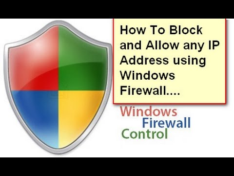 How to Block and Allow IP Addresses using Windows Firewall!!Easy Way!!