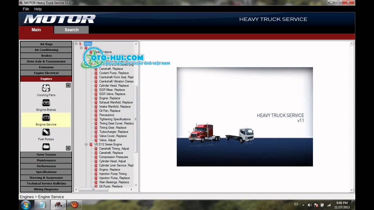 motor heavy truck service v13 download