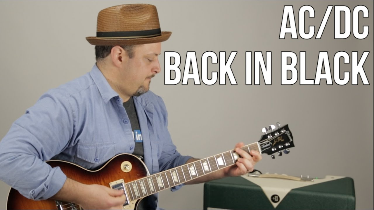 Acdc back in black guitar lesson how to play electric guitar acdc back in black guitar lesson how to play electric guitar tutorial youtube ibookread ePUb
