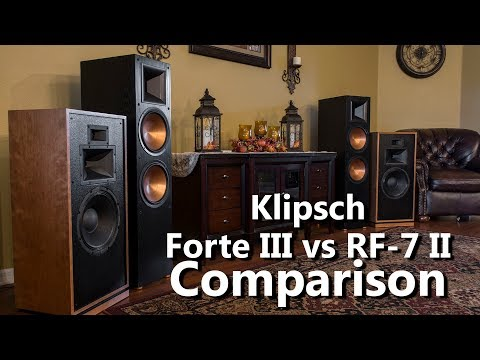 Klipsch Forte III vs RF 7 II Audio Demo Comparison