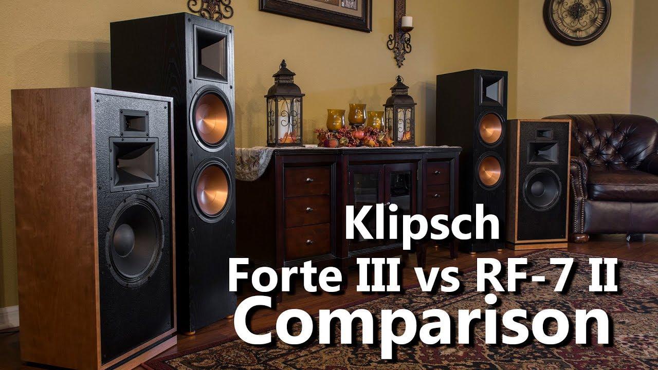 Klipsch Forte III vs RF 7 II Audio Demo Comparison