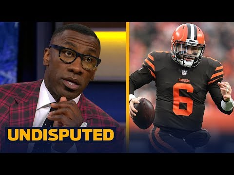 Shannon Sharpe says Baker Mayfield needs to grow up after Hue Jackson stare down | NFL | UNDISPUTED