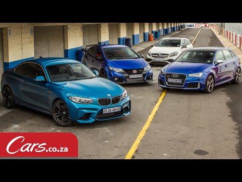 Track Race: BMW M2 vs Mercedes A45 vs Audi RS3 vs Honda Type-R
